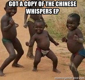 african children dancing - got a copy of the chinese whispers ep