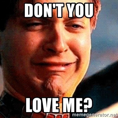 Crying Tobey Maguire - DON'T YOU LOVE ME?