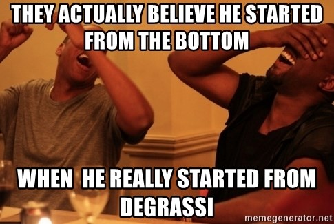 kanye west jay z laughing - They actually believe he started from the bottom when  he really started from Degrassi
