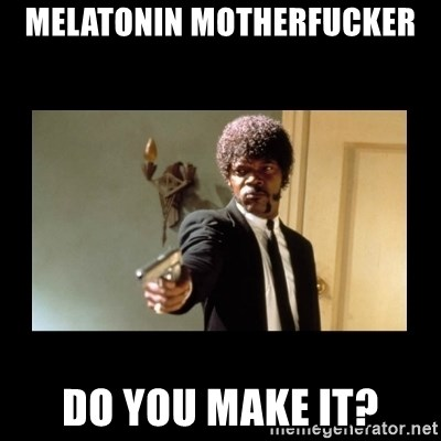 ENGLISH DO YOU SPEAK IT - Melatonin motherfucker Do you make it?