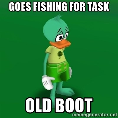 Toontown Problems - Goes fishing for task Old boot