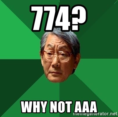 High Expectations Asian Father - 774?  why not AAA