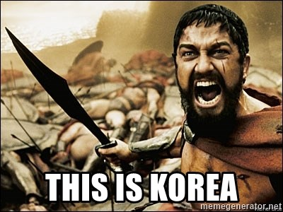 This Is Sparta Meme -  this is korea