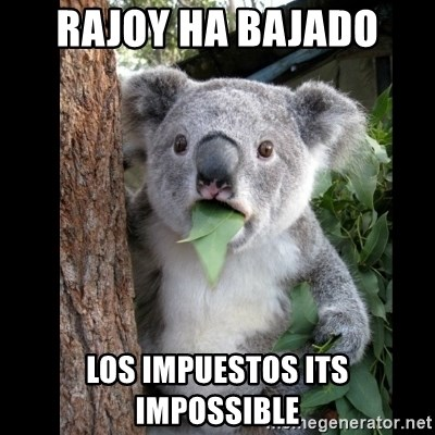 Koala can't believe it - RAJOY HA BAJADO LOS IMPUESTOS ITS IMPOSSIBLE