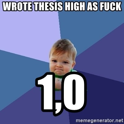 Success Kid - Wrote thesis high as fuck 1,0