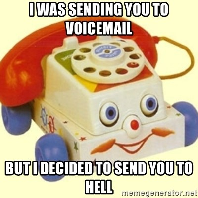Sinister Phone - I was sending you to voicemail But I decided to send you to hell