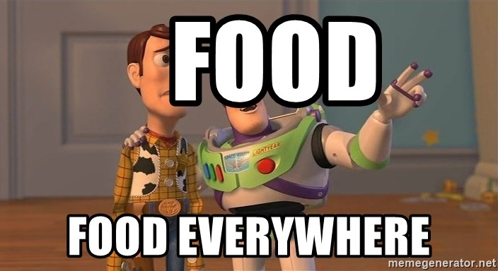 ORIGINAL TOY STORY -    food food everywhere