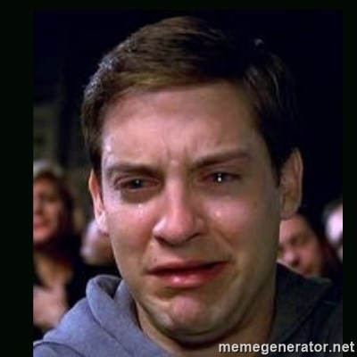 crying peter parker -