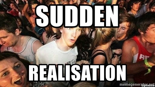 -Sudden Clarity Clarence - Sudden  realisation