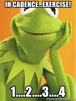 Kermit the frog - In Cadence...Exercise! 1....2....3....4
