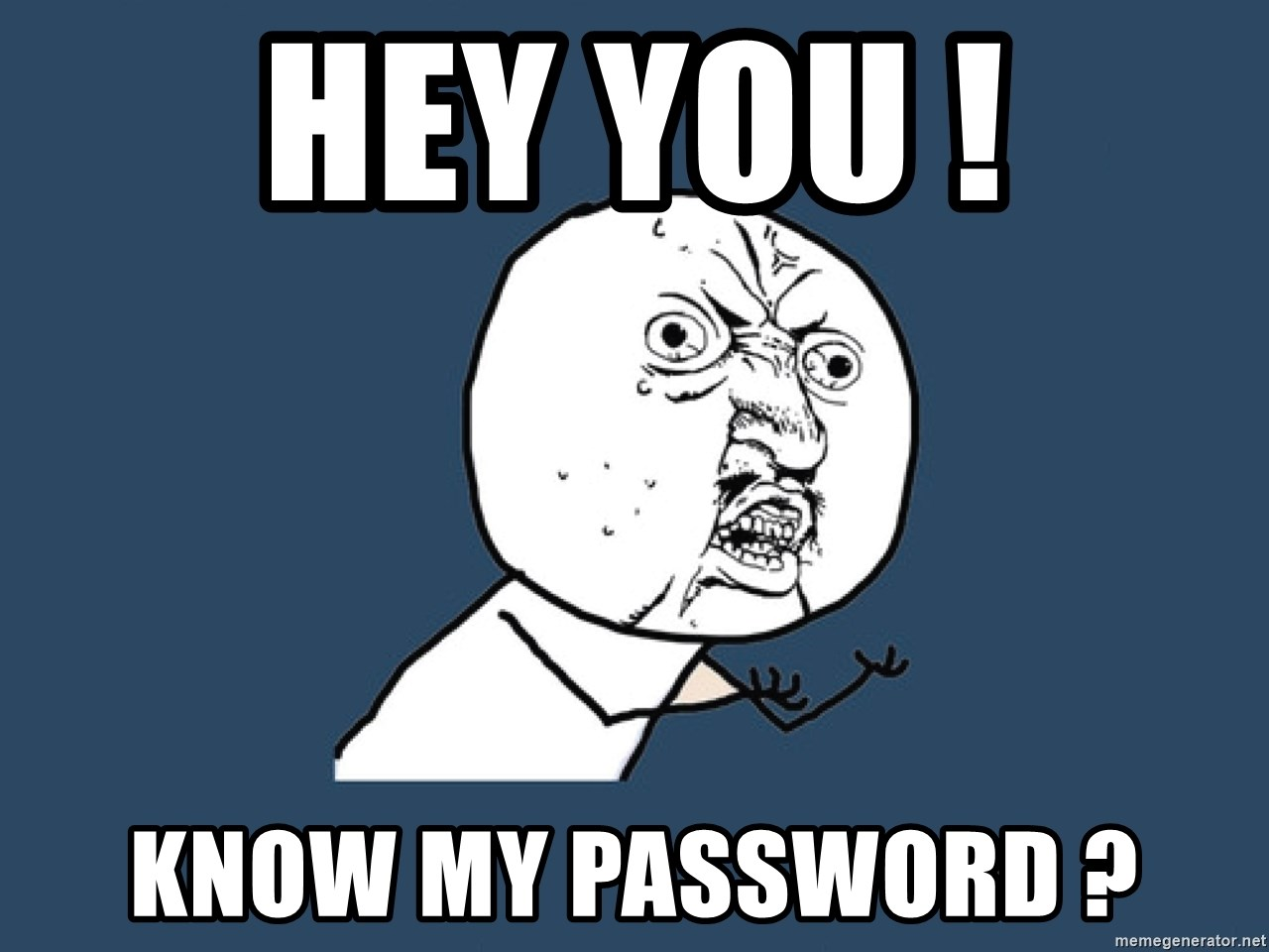 Y U No - Hey you ! know my password ?