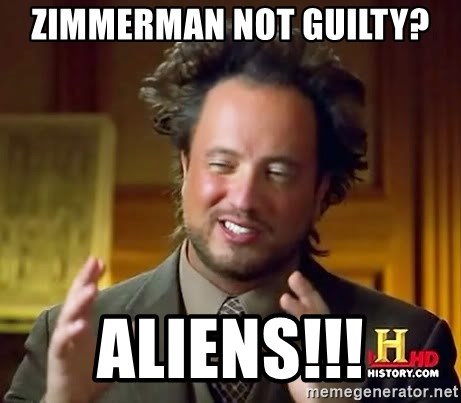 Ancient Aliens - zimmerman not guilty? aliens!!!