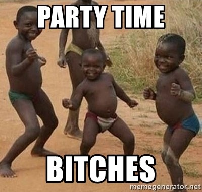 Dancing African Kid - Party time  bitches