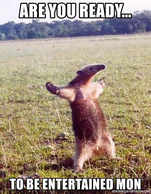 Anteater - ARE YOU READY... TO BE ENTERTAINED MON