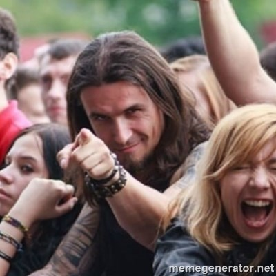 Ridiculously Photogenic Metalhead -