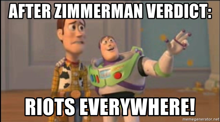 X, X Everywhere  - After Zimmerman Verdict: Riots Everywhere!