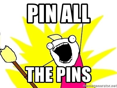 X ALL THE THINGS - pin all the pins