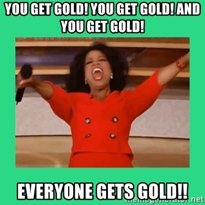 Oprah Car - YOU GET GOLD! YOU GET GOLD! AND YOU GET GOLD! EVERYONE GETS GOLD!!