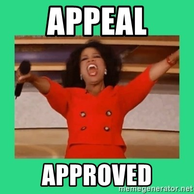 Oprah Car - Appeal Approved