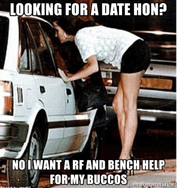 Karma prostitute  - Looking for a date hon? No i want a rf and bench help for my buccos
