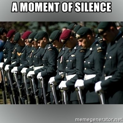 Moment Of Silence - A moment of silence