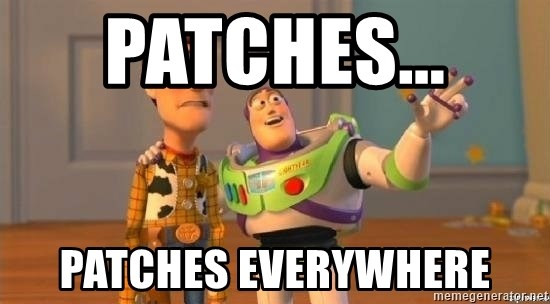 Woody and Buzz HD - patches...  Patches everywhere
