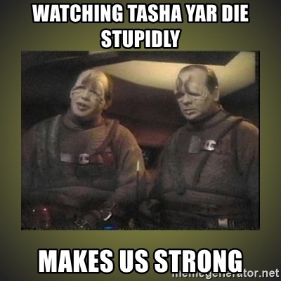 Watching Tasha Yar Die Stupidly Makes Us Strong Star Trek Pakled