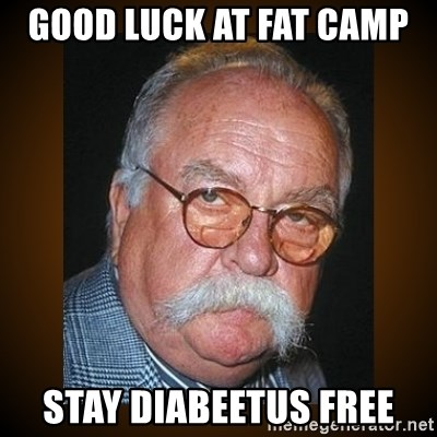 43116686 good luck at fat camp stay diabeetus free wilford brimley meme