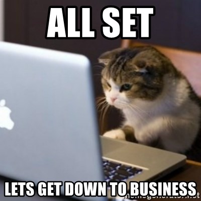 55832318 all set lets get down to business cat computer meme generator,Get Down Cat Meme