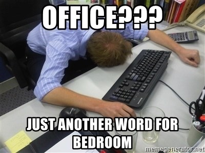 Office Just Another Word For Bedroom Asleep By Keyboard
