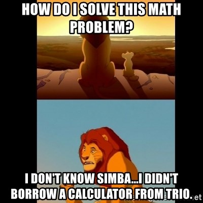 How do I solve this math problem? I don\'t know Simba...I didn\'t ...