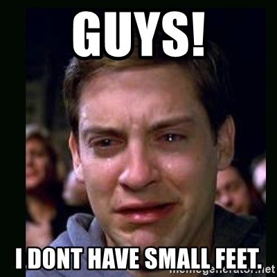 68018339 guys! i dont have small feet crying peter parker meme generator