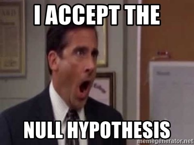 I Accept The Null Hypothesis Michael Scott No God No The Office