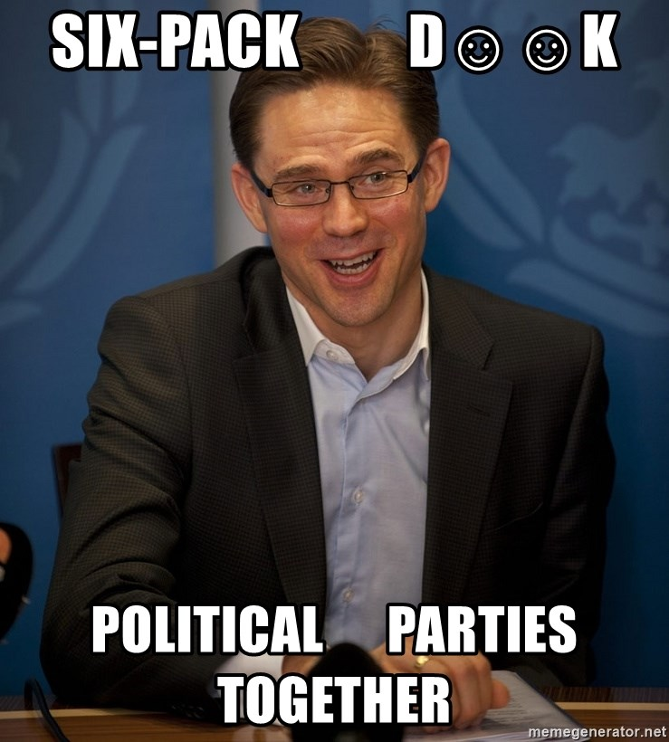 Katainen Perkele - SIX-pack         D☺☺K political      parties        together