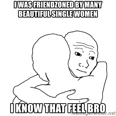 I know that feel bro blank - i was friendzoned by many beautiful single women i know that feel bro