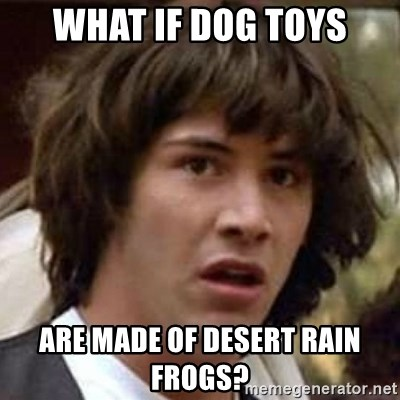 What If Dog Toys Are Made Of Desert Rain Frogs Conspiracy Keanu