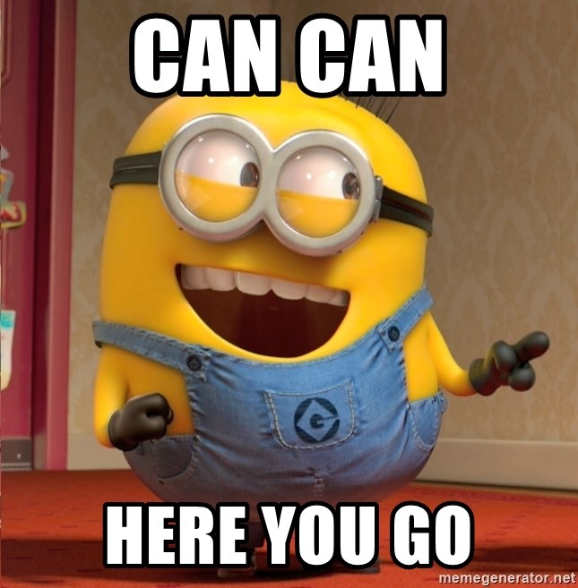 dave le minion - CAN CAN HERE YOU GO