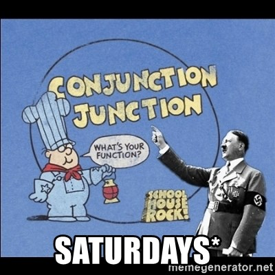 Grammar Nazi -  Saturdays*