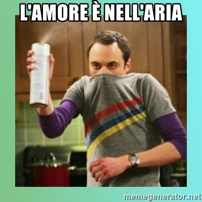 Sheldon Cooper spray can - L'amore è nell'aria
