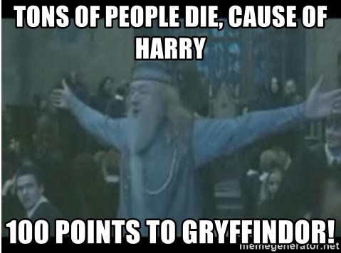 Harry se esta garchando a todos - tons of people die, cause of harry  100 points to gryffindor!