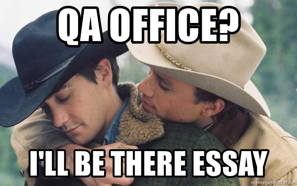 Essay Thesis Statement Examples Ill Be There Essay  Brokeback Mountain  Meme Generator Science Essay Ideas also Importance Of English Language Essay Qa Office Ill Be There Essay  Brokeback Mountain  Meme Generator High School Admissions Essay