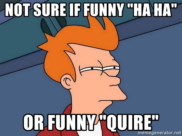 "Futurama Fry - NOT SURE IF FUNNY ""HA HA"" OR FUNNY ""QUIRE"""