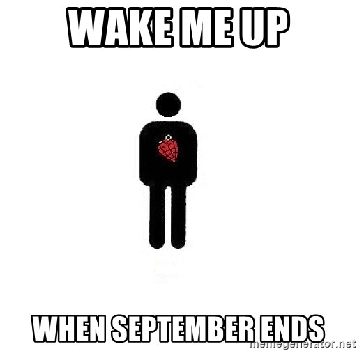 typical green day fan wake me up when september ends