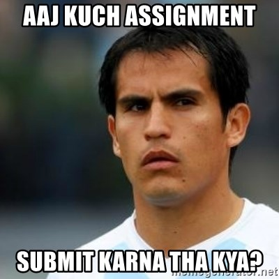 Conspiracy Ledesma II - aaj kuch assignment  submit karna tha kya?