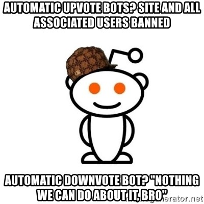 Automatic upvote bots? Site and all associated users banned