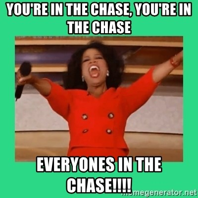 Oprah Car - YOU'RE IN THE CHASE, YOU'RE IN THE CHASE EVERYONES IN THE CHASE!!!!