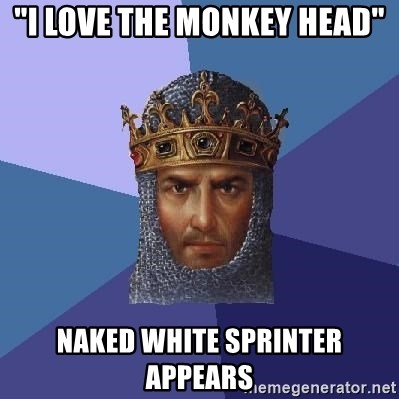 """Age Of Empires - """"I love the Monkey Head"""" Naked white sprinter appears"""