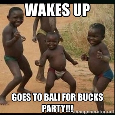 wakes up goes to bali for bucks party wakes up goes to bali for bucks party!!! dancing black kid