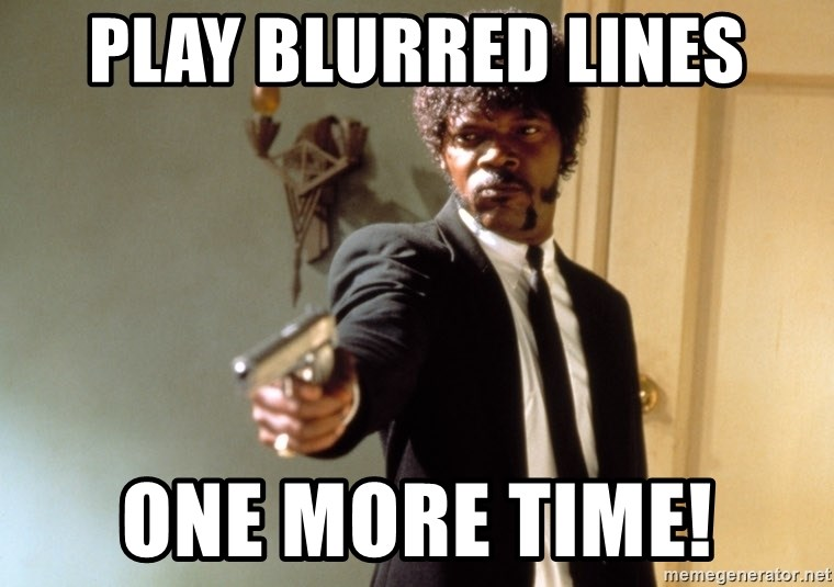 Samuel L Jackson - play blurred lines one more time!