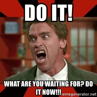 Arnold Schwarzenegger 1 - DO IT! WHAT ARE YOU WAITING FOR? DO IT NOW!!!